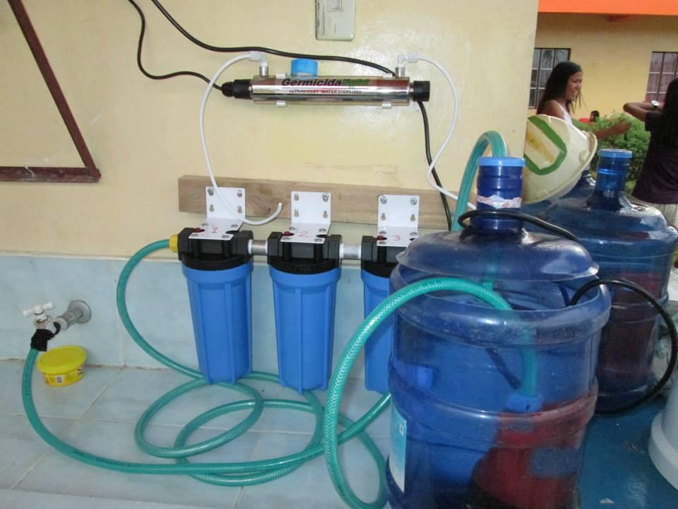 Vattenreningssystemet har kommit igång.