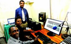 Production studio at Radio Ubutumwa bw'Amahoro