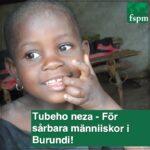 Glatt afrikanskt barn